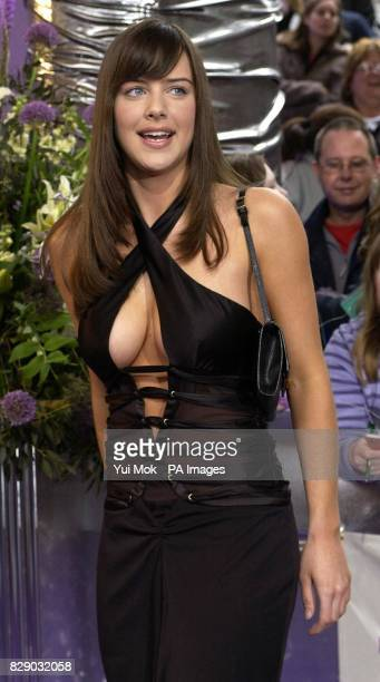 EastEnders actress Michelle Ryan arrives for the Britsh Soap Awards at BBC TV Centre in west London.