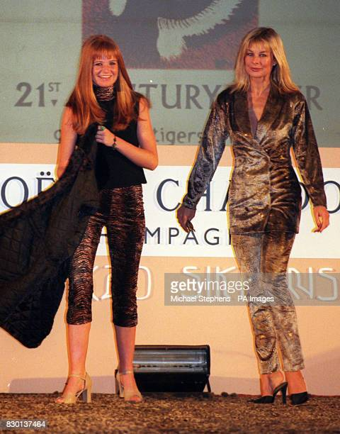 EastEnders actress Patsy Palmer and former Page 3 Girl Jilly Johnson modelling at the Night of the Big Cat fashion show in London in aid of 21st...