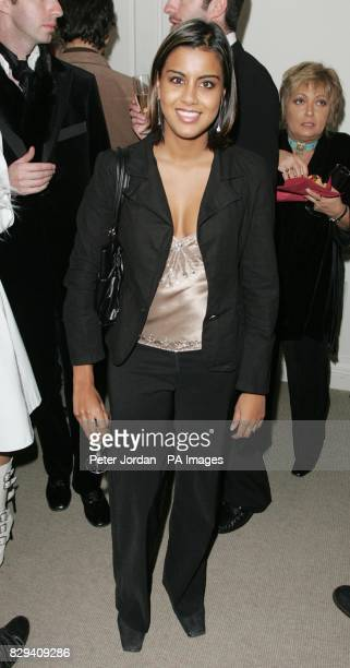 Eastenders actress Pooja Shah arrives for the House Of Hardy Amies cocktail evening of fashion and burlesque in aid of LEPRA on Savile Row in central...
