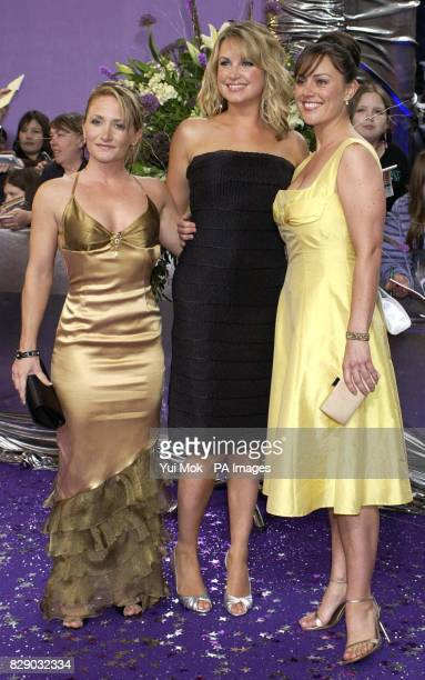 EastEnders actresses from left to right Lucy Speed Kim Medcalf and Jill Halfpenny arrive for the British Soap Awards at BBC TV Centre in west London