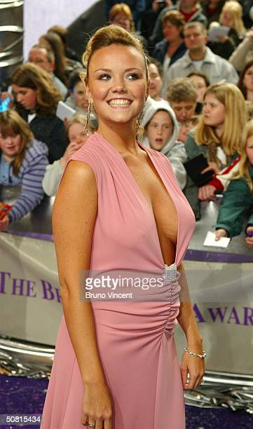 Eastenders soap star Charlie Brooks arrives at the sixth annual British Soap Awards 2004 on May 8 2004 at BBC Television Centre in London