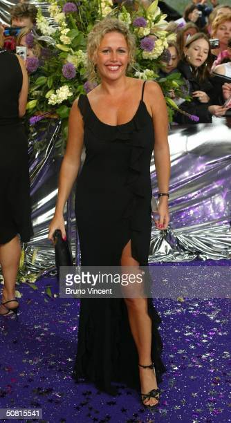 Eastenders soap star Lucy Benjamin arrives at the sixth annual 'British Soap Awards 2004' on May 8 2004 at BBC Television Centre in London