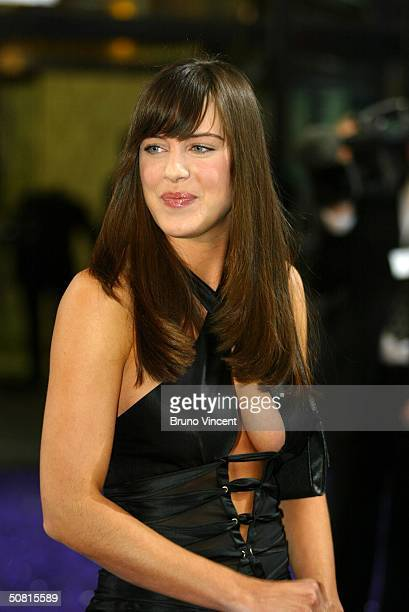 Eastenders soap star Michelle Ryan arrives at the sixth annual 'British Soap Awards 2004' on May 8 2004 at BBC Television Centre in London