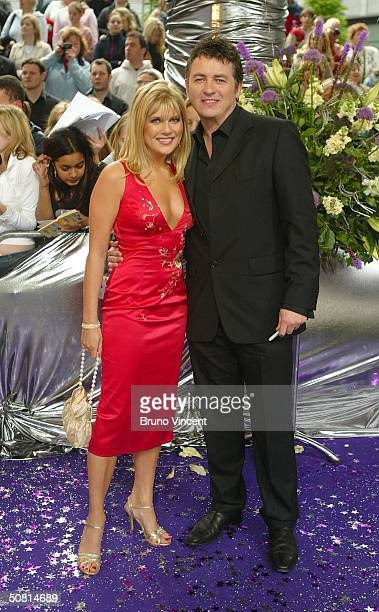 Eastenders soap star Shane Richie and girlfriend Christie Goddard arrive at the sixth annual 'British Soap Awards 2004' on May 8 2004 at BBC...