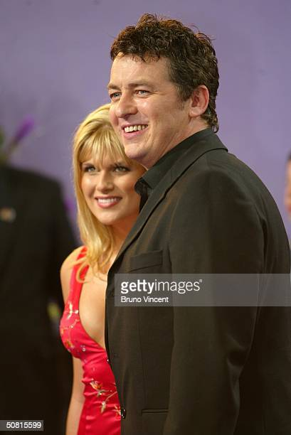 Eastenders soap star Shane Richie and girlfriend Christie Goddard arrive at the sixth annual British Soap Awards 2004 on May 8 2004 at BBC Television...