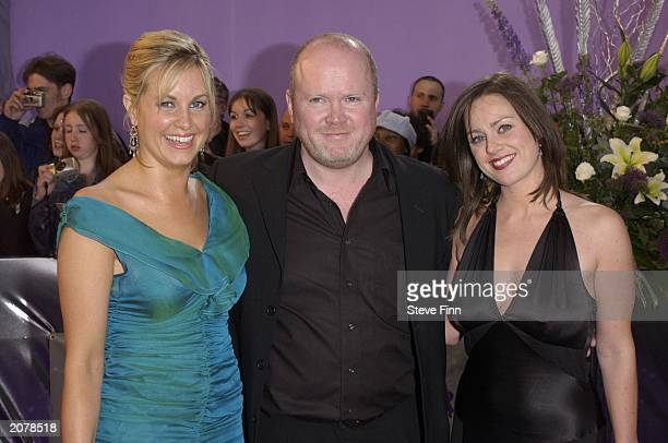 Eastenders stars Kim Medcalf Steve McFadden and Jill Halfpenny at the British Soap Awards 2003 held at BBC Television Centre on May 10 London England...