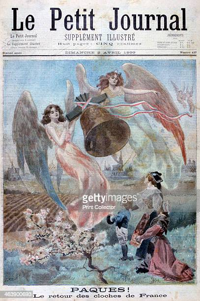 Easter 1899 The return of the bells of France An illustration from Le Petit Journal 2nd April 1899