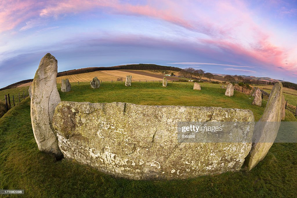 Easter Aquhorthies Stone Circle : Stock Photo