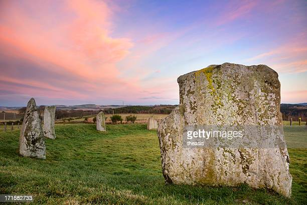easter aquhorthies stone circle - theasis stock pictures, royalty-free photos & images