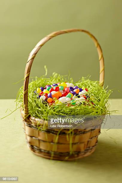 Easter Basket filled with jelly beans