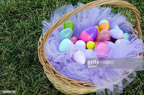 easter basket - easter basket stock photos and pictures