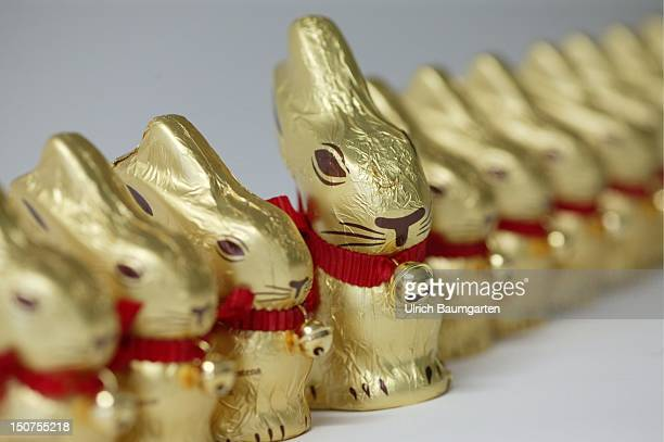 Easter bunnies made of chocolate