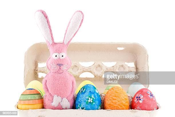 Osterhase und Eiern in a box