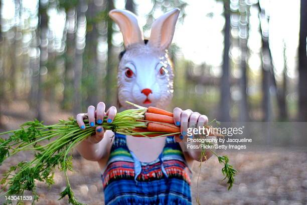 easter bunny - rabbit mask stock pictures, royalty-free photos & images