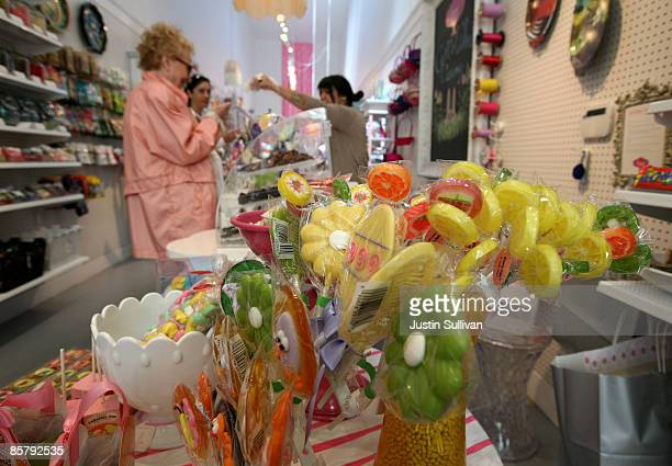 Easter candies are displayed at Sweet Dish candy store April 3 2009 in San Francisco California As the economy continues to struggle candy sales are...