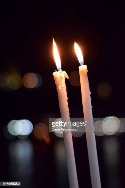 easter candles - greek easter stock pictures, royalty-free photos & images