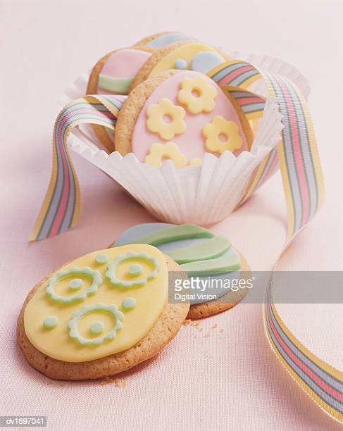 Easter Cookies and a Ribbon