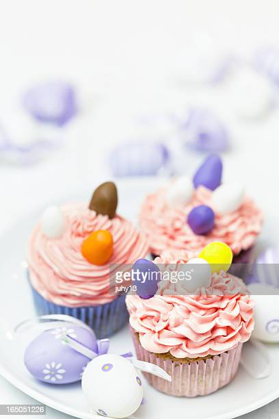 easter cupcake - easter cake stock pictures, royalty-free photos & images