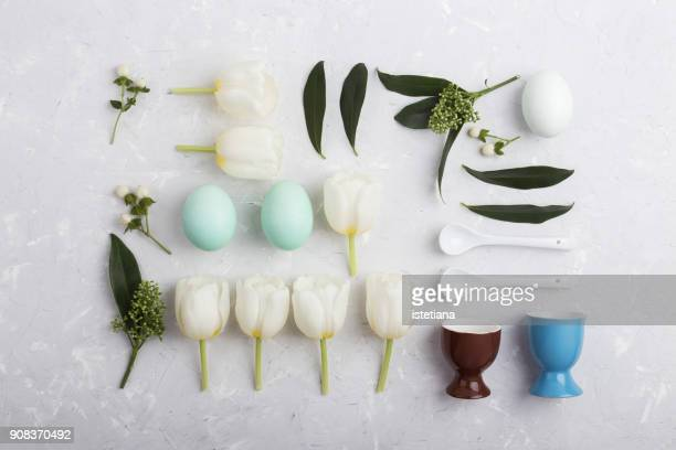 Easter decoration knolling style