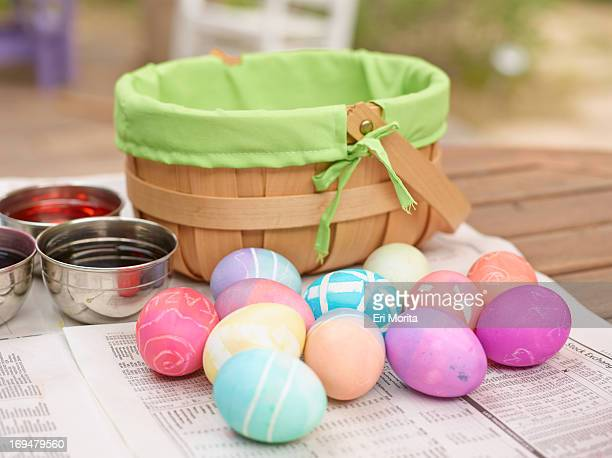 Easter egg coloring and egghunt