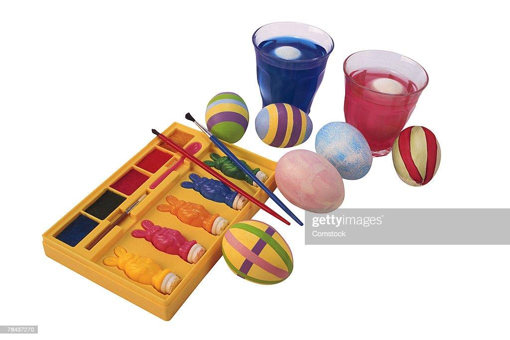 Easter egg coloring kit : Stockfoto