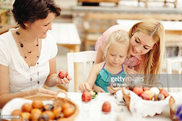 easter egg coloring - hungarian culture stock photos and pictures