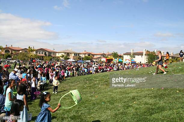 Easter egg hunt for children in 4 S Ranch San Diego was largely attended
