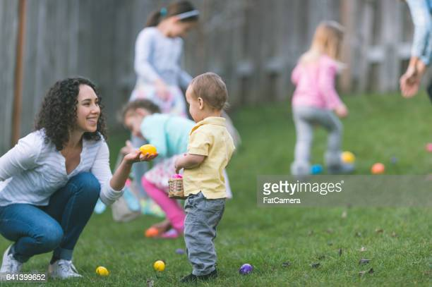 easter egg hunt! - easter egg hunt stock photos and pictures