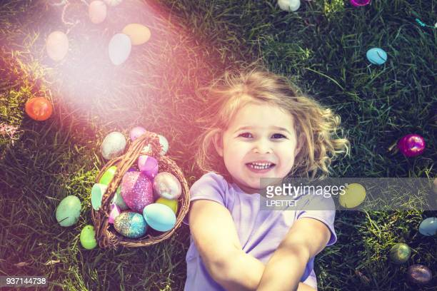 easter egg hunt - easter stock pictures, royalty-free photos & images