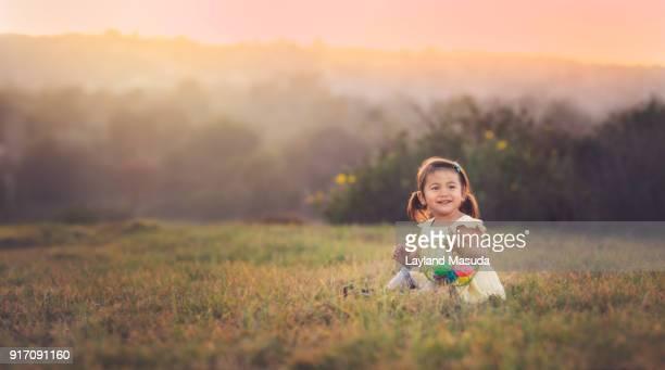 Easter Egg Hunt - Toddler Girl Smiles