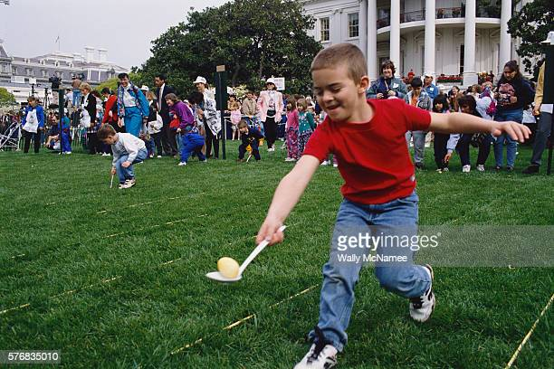Easter Egg Racing on White House Lawn