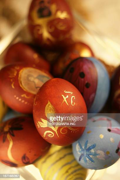 easter eggs 7 - happy easter in russian stock pictures, royalty-free photos & images
