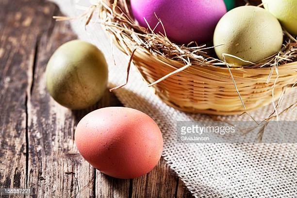 Ostern Eier auf Holz