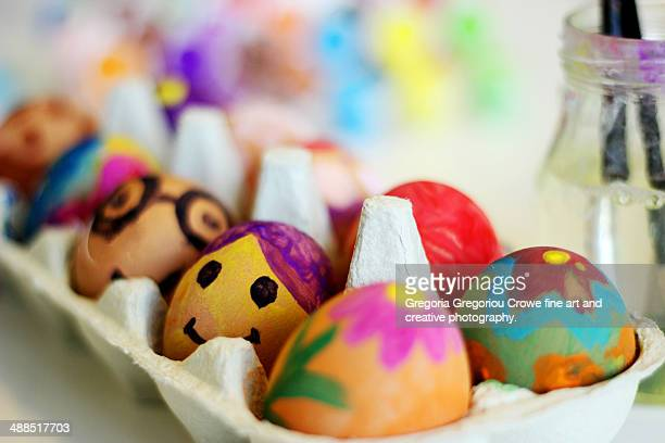 easter eggs - gregoria gregoriou crowe fine art and creative photography photos et images de collection