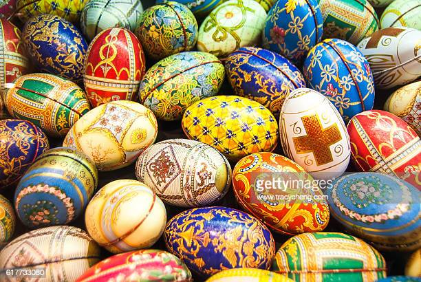 easter eggs - easter cross stock pictures, royalty-free photos & images