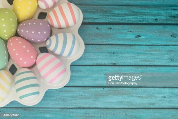 easter eggs - easter religious background stock pictures, royalty-free photos & images