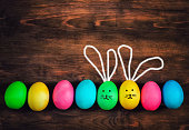 easter eggs rabbits funny decorations happe