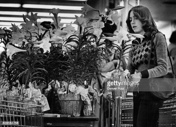 Easter Gift Ann Beede Denver selects an Easter lily for her parents while shopping in the Target store on South Colorado Boulevard She was among...