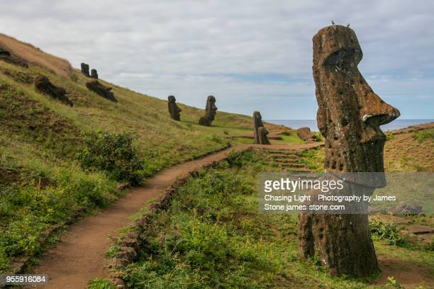 Easter Island Head Statues at quarry site