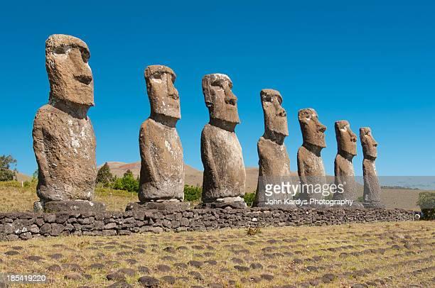 Easter Island Moai, statues