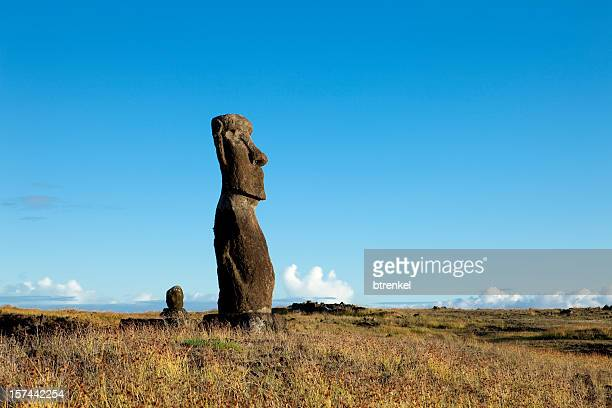 easter island - easter sunrise stock pictures, royalty-free photos & images