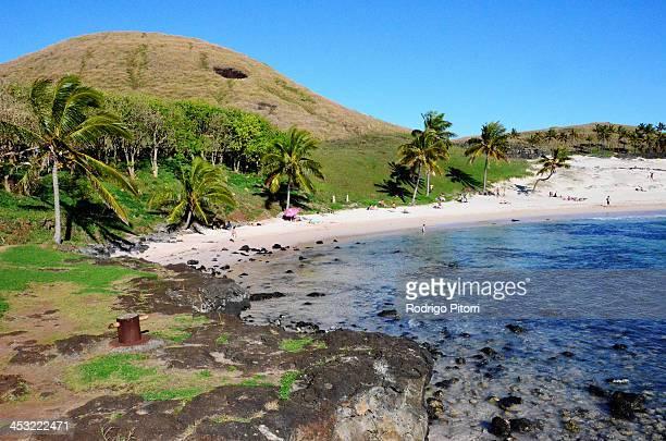 easter island - rodrigo pitorri stockfoto's en -beelden