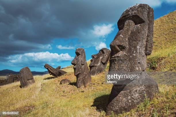 Paaseiland Rano Raraku Moai beelden Rapa Nui Chili