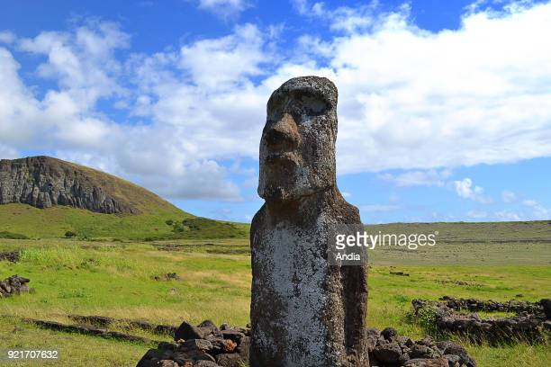 Moai typical statue from Easter Island monolithic human figure