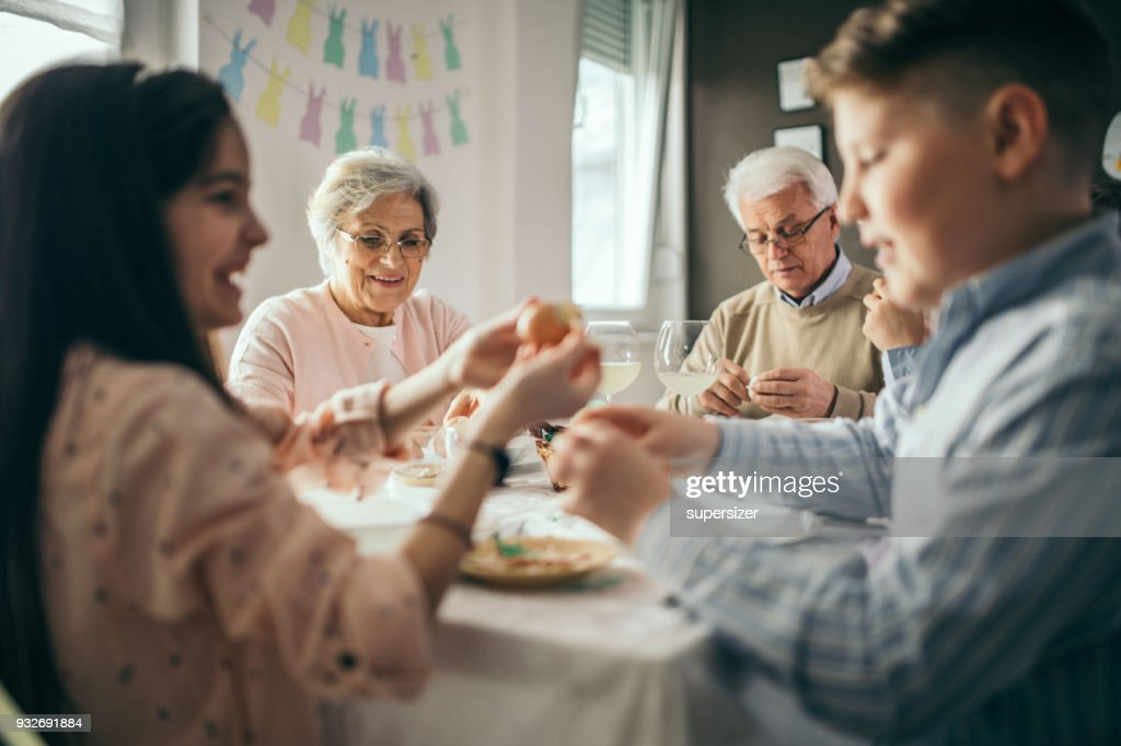 Easter meal : Stock Photo