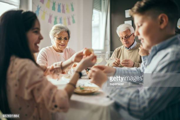 easter meal - easter stock pictures, royalty-free photos & images