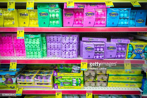Easter merchandise on the shelves of a store in New York on Thursday February 19 2015 93 year old family owned Just Born Quality Confections has just...