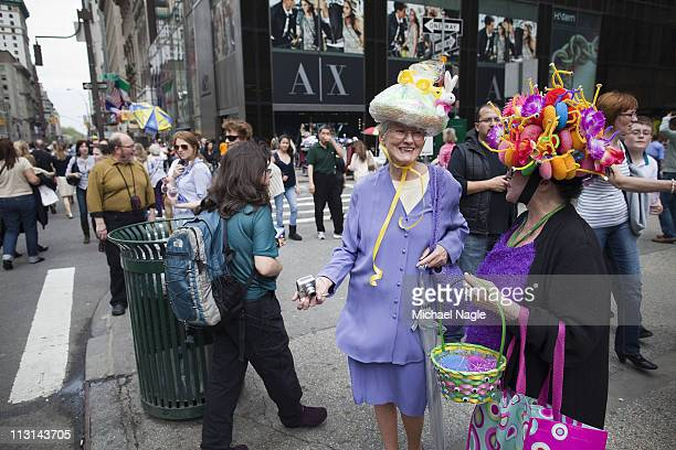 Easter parade participants take part in the 2011 Easter Parade and Easter Bonnet Festival on April 24, 2011 in New York City. The parade is a New...