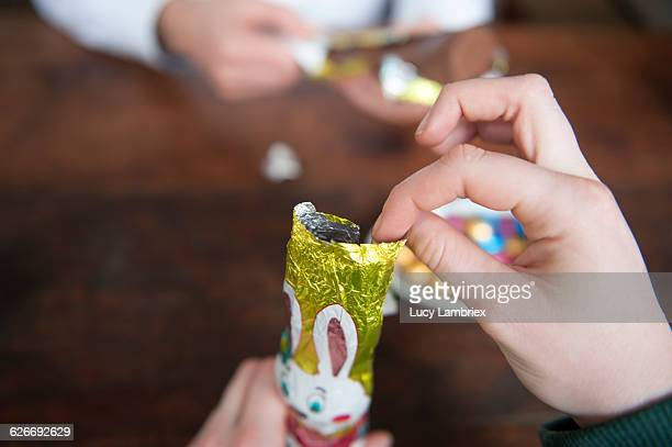 pov easter - easter bunny man stock pictures, royalty-free photos & images