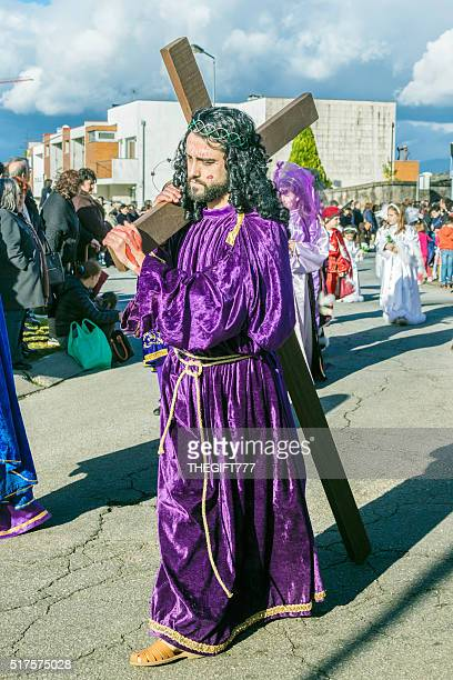 Easter procession in Braga, carrying the Cross of Jesus